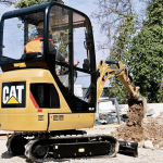 The CAT 301.4 mini excavator is available with EMS Resources.