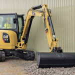 The Cat 305.5 mini hydraulic excavator ready for plat hire.