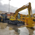 The ESM resources fleet showing loader and excavators.