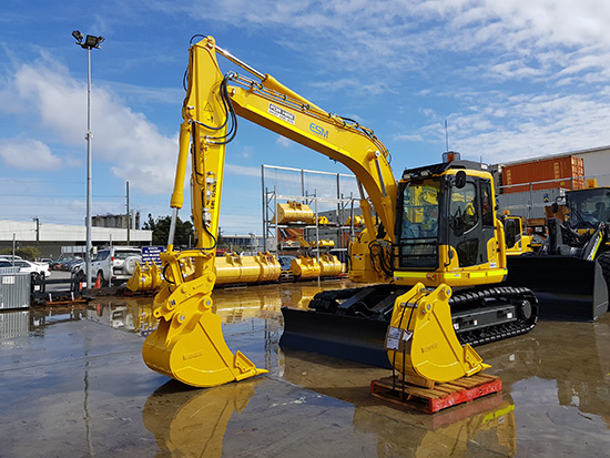 One of ESM's Komatsu excavators ready for mine site deployment for a client.