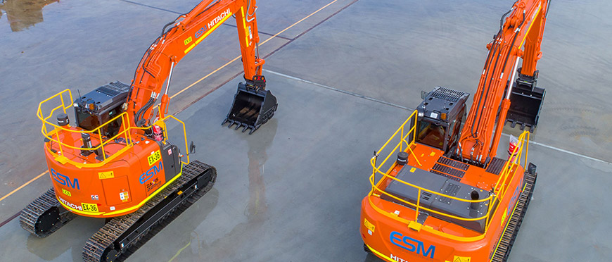 The Two New Excavators at ESM Resources – Stats & Features
