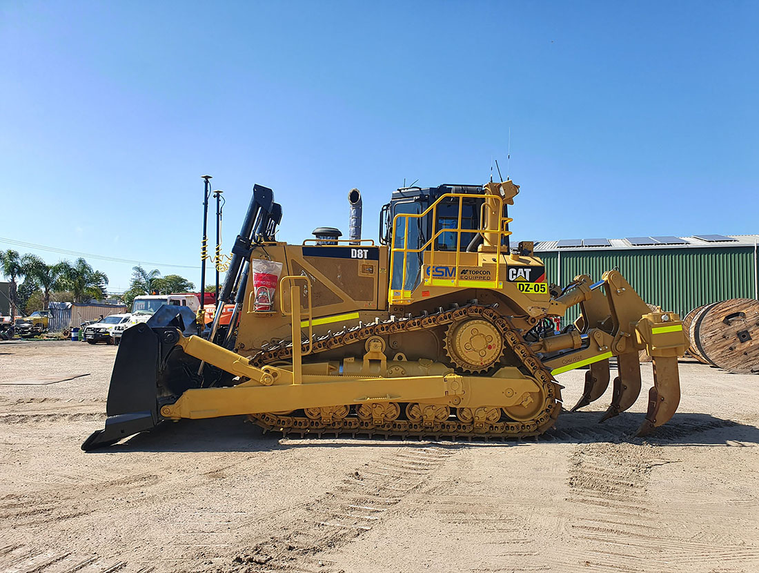 A bulldozer for hire useful for civil construction projects.
